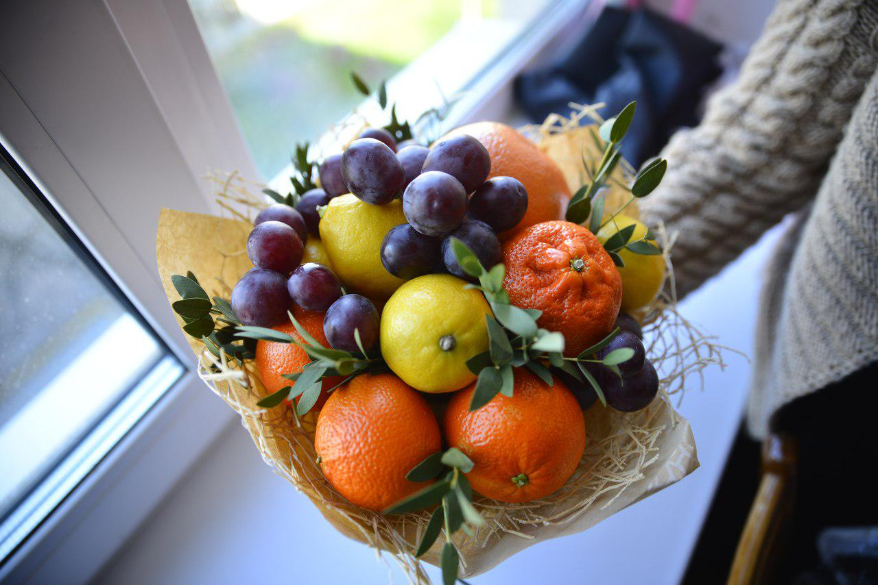 водопад букет из фруктов мастер класс с фото пусть дарит наслажденье