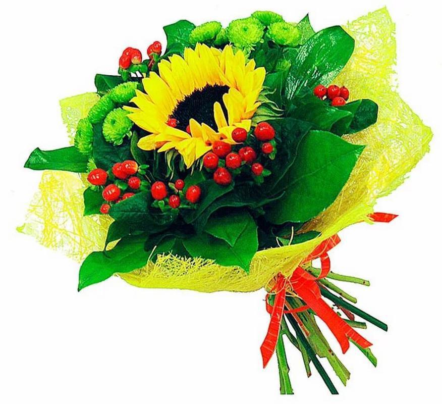 Цветов, букеты с подсолнухами на заказ с доставкой